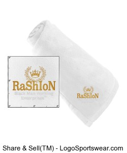 Fleece Baby Blanket with Ribbon Tie Design Zoom